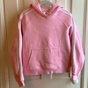 Adidas Pink Three Stripe Pullover Sweatshirt
